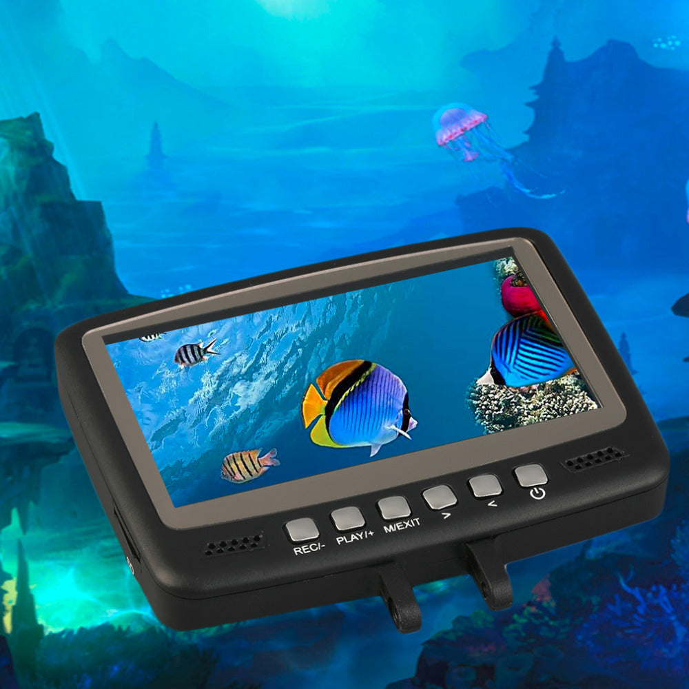 "7HB-DVR Fish Finder Video Underwater Fishing Camera 4.3"" Monitor Night Vision 15m"