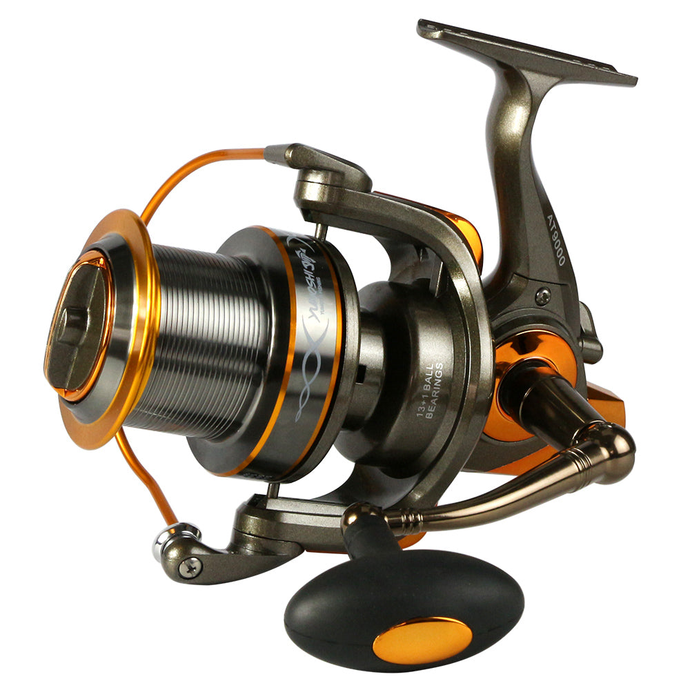 Full metal spool AT8000/9000 series trolling long shot casting for carp and salt water surf spinning big sea fishing reel
