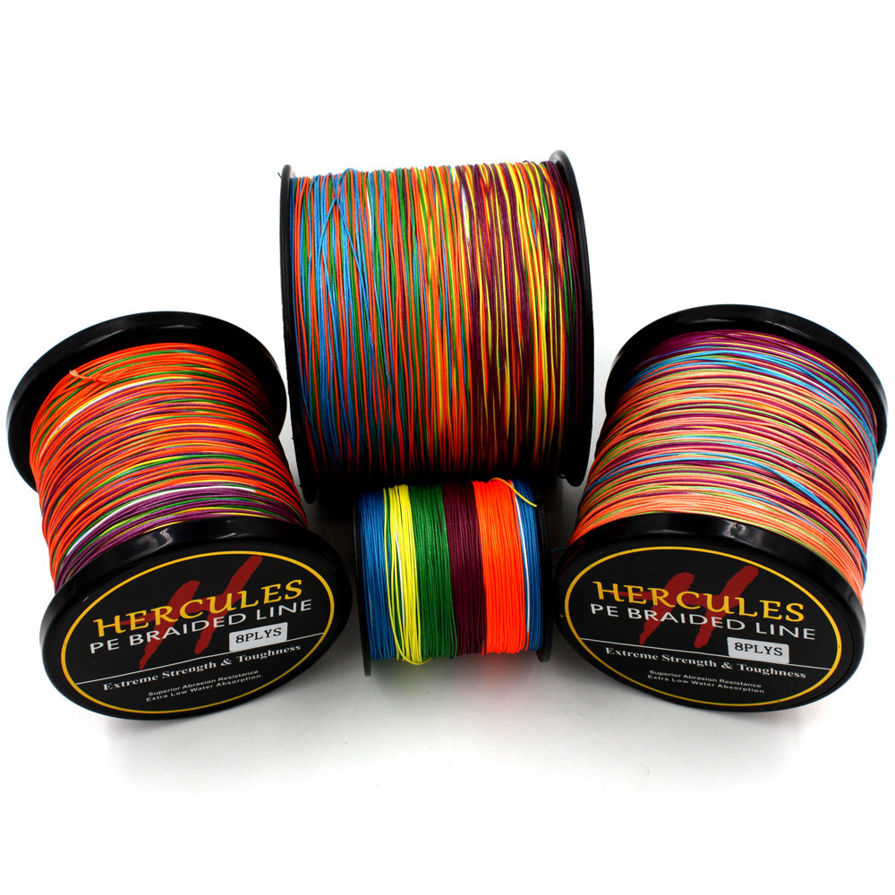 Multicolor 8 Strands  Braid Fishing Line