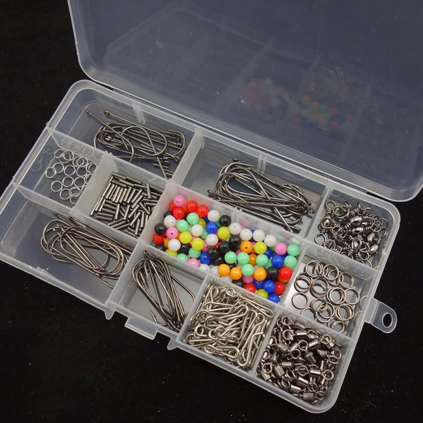Fishing lure Sea Fishing Rig Set Rigs Beads Swivels Crimps Hooks With Fishing box #E0
