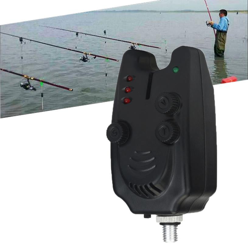 2 LED Adjustable Tone Volume Sensitivity Sound Alert Fishing Bite Alarm Water Resistant Fishing Alarm for Fishing Rod #YL
