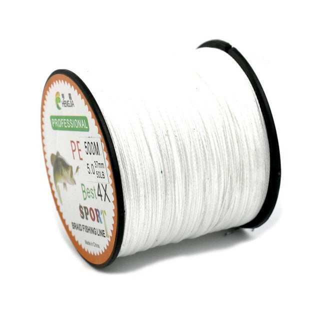Hot Selling 500M Super Strong Extreme PE Braided Sea Fishing Line Multifilament Fishing Line #E0