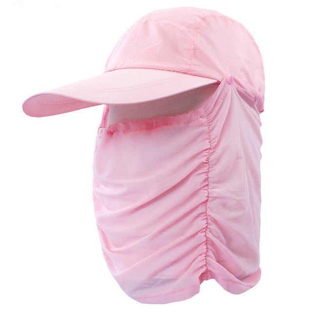Outdoor Protection Full Face Headwear Neck Hiking Fishing UV Sun Protection Hat  Mask#