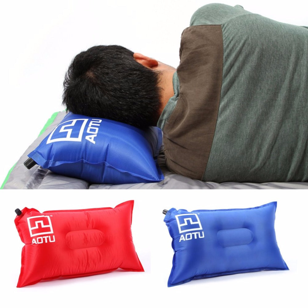 AOTU Portable Outdoor Inflatable Pillow Wear Resistance Adjustable Quick Dry Camping Travel Pillows Hot sale