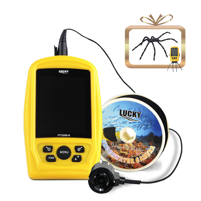 LUCKY FF3308-8 Underwater Camera Fishing Inspection 3.5 Inch Color Screen CMD Sensor 20M Cable Line Waterproof Fish Finder