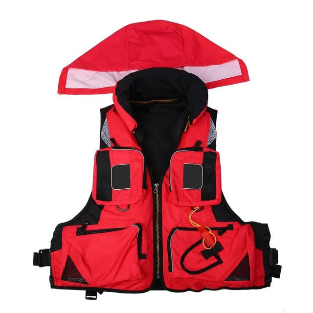 Adult Polyester Swimming Life Jacket Professional Life Vest For Drifting Boating Survival Fishing Safety Jacket ship from RU&CN
