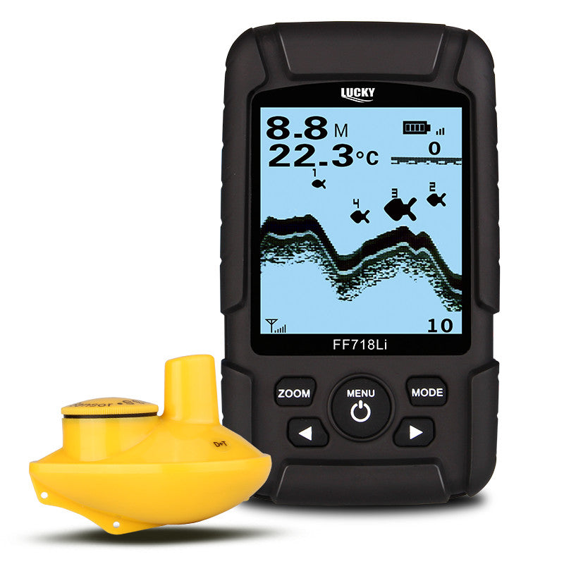 Lucky FF718Li-W Wireless Fish Finder 2.5inch LCD 45m Depth 180m Range Sound Echoing Sonar Fish Location Detector Fishing Tools