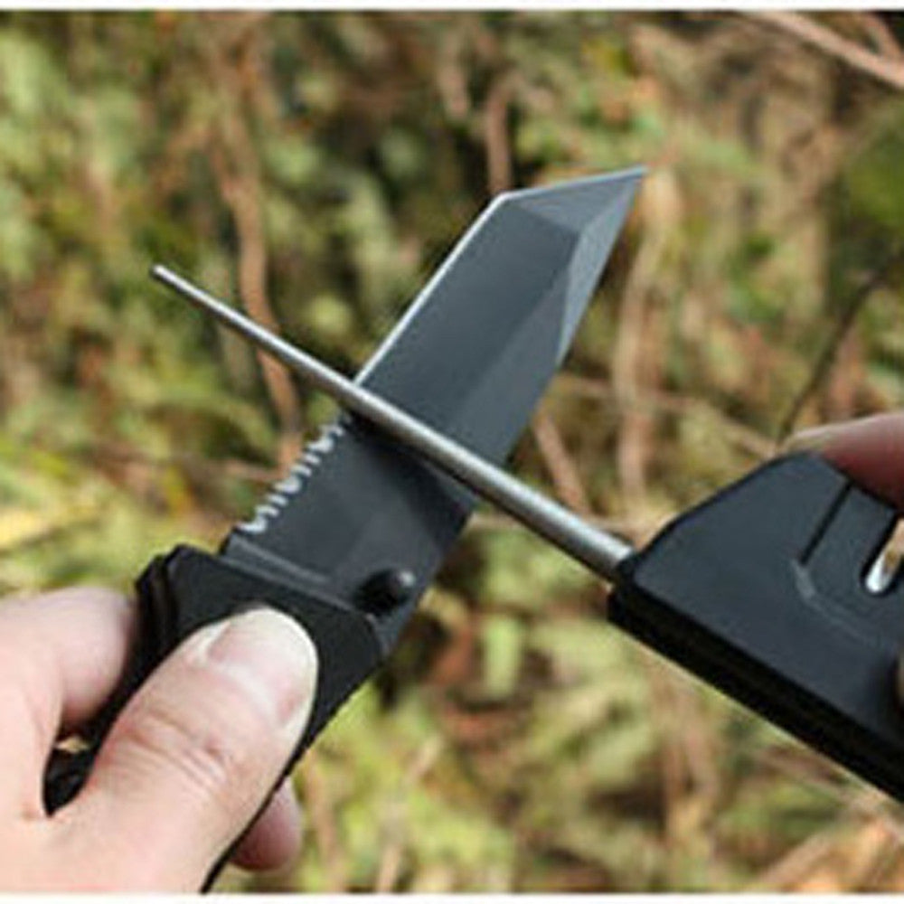 4 In 1 Plate Sharpener Stone Grinding Polishing Whetstone Grinding Multifunction Outdoor Travel Camping Tool #EW