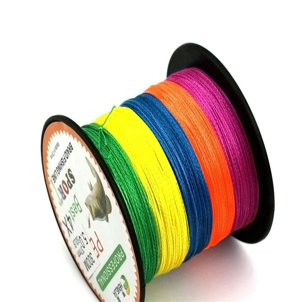 New Super Strong 300M 4X Series PE Braided Lure Fishing Line Wire Colorful Kite Line Fishing Accessories #EW