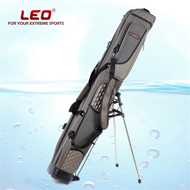 Leo 1.25m 2 or 3 Layers Waterproof Fishing Bag With Holder Portable Multi Purpose Fishing Tackle Tools Storage Bag Portable Gear