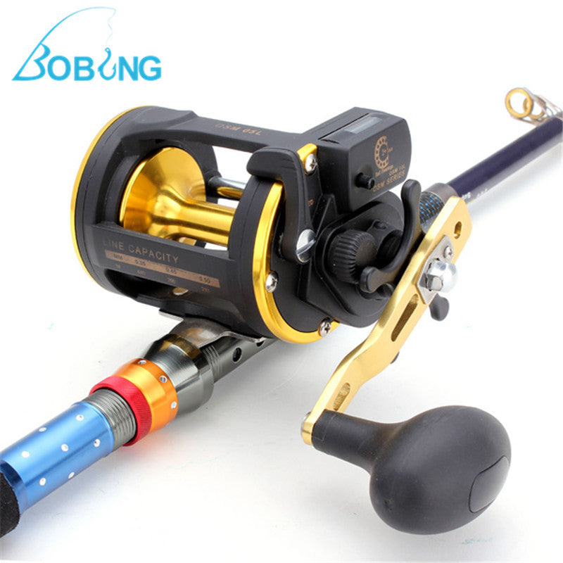 05L 6.0:1 Sea Fishing Reels 2+1 BB Ball Bearing Precise Copper Gear with Counter Winder Carrete Fishing Tackle Accessories