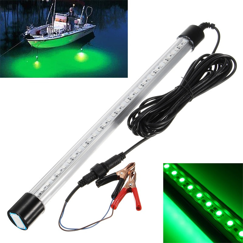 Bobing 1pc 33LED Green Fishing Light DC12V 1.5A 50W 10000LM Fishing Lamp Durable 50000 Hours Night Fishing Tools Inducer Tackle