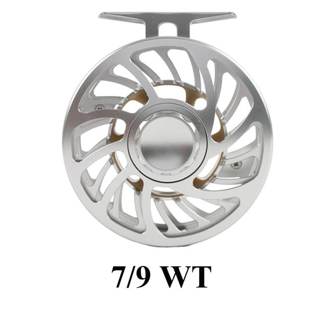 Maximumcatch 100% Waterproof Saltwater 5-12wt Large Arbor Fly Reel Multi-Disc T6061 Aluminium Silver Fly Fishing Reel
