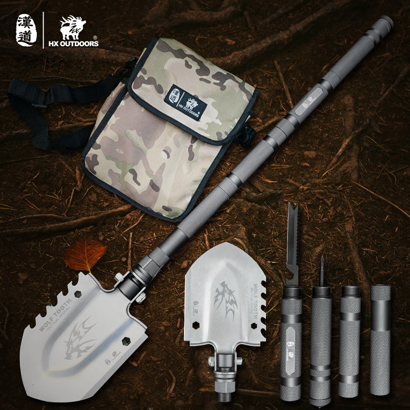 Outdoor Survival Tactical Folding Camping Shovel, Military Equipment, Emergency Multitool,Snow shovel