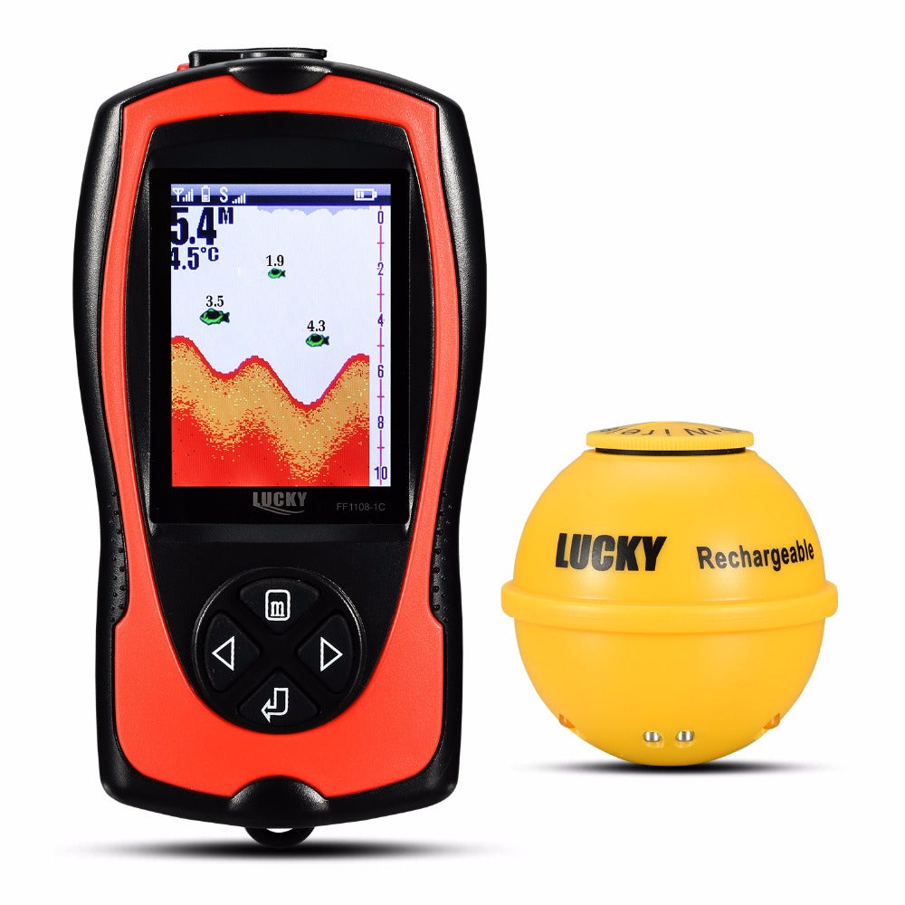 Rechargeable Wireless Remote  LCD Fish Finder