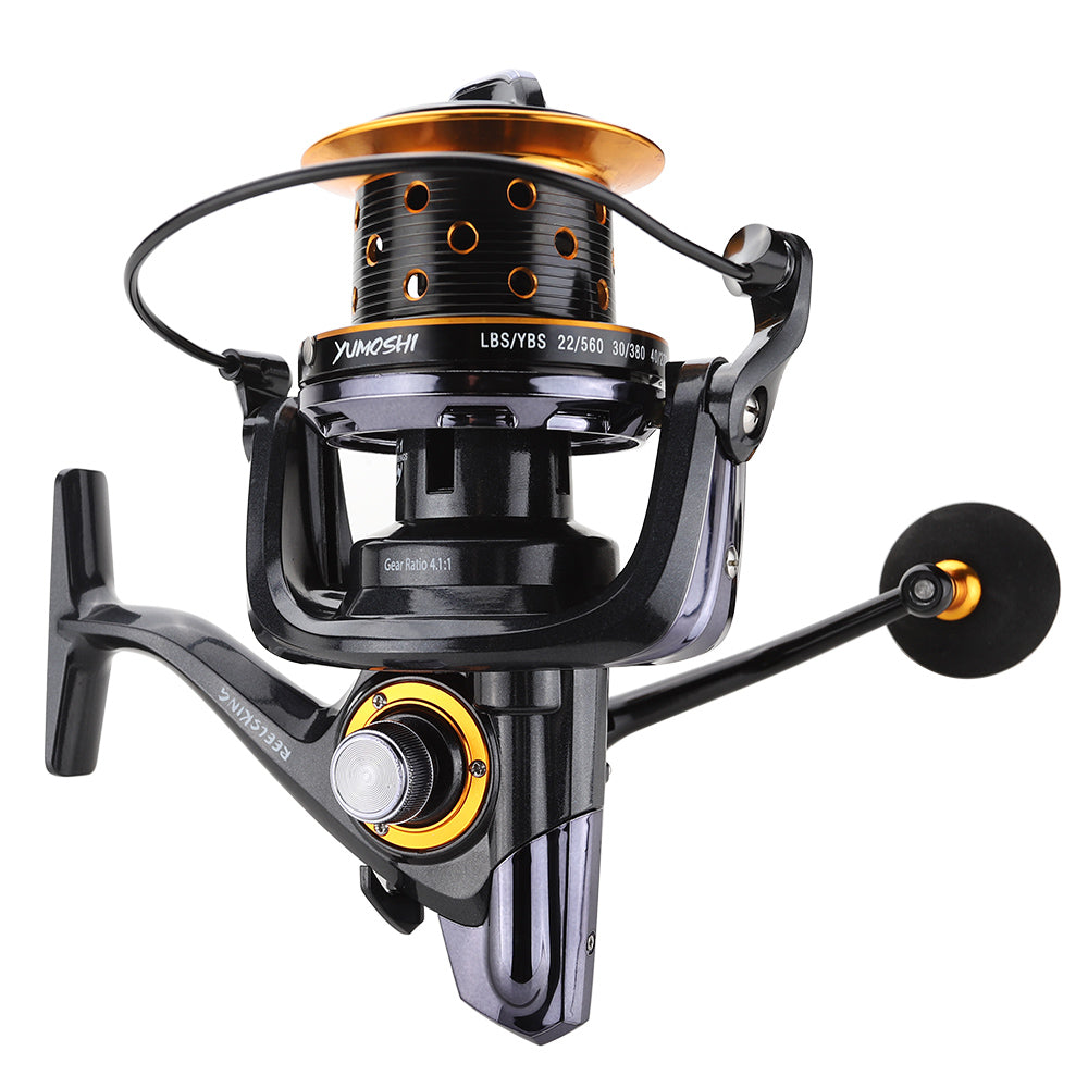 Full metal spool trolling fishing reel long shot casting for carp and salt water surf spinning reel TK9000/10000 series