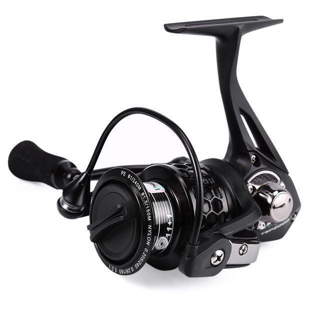 TSP2000 Trulinoya 12BB Full Metal Aluminum Spinning Fish Reel with Special Gear Transmission System 5.2:1 Ergonomic Design