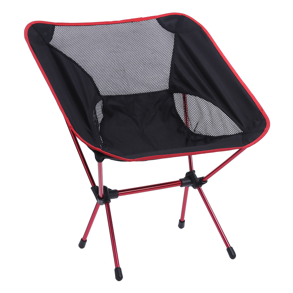 2PCS/set Portable Fishing Chair Seat Lightweight Folding Outdoor Camping Stool for Fishing Festival Picnic BBQ Beach With Bag