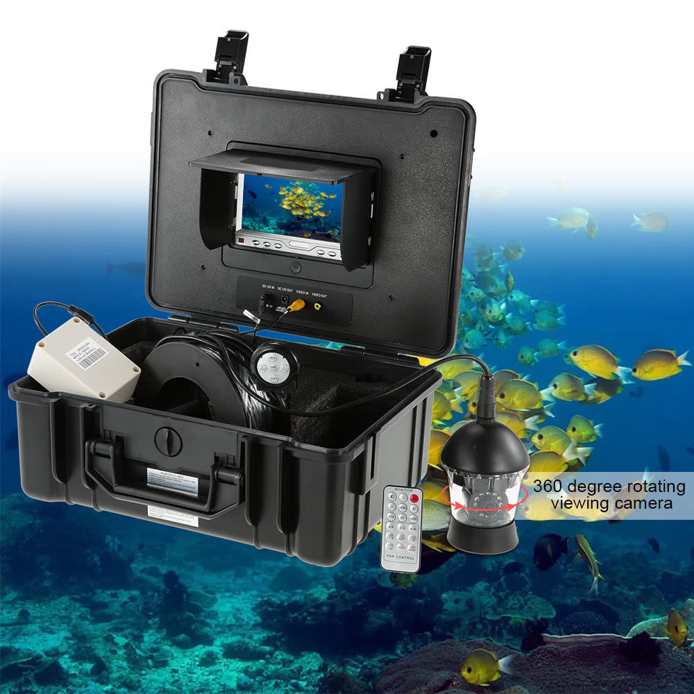 "7"" Professional LCD Underwater Fishing Camera Fishfinder 360 Degree Rotating CCD 650TVL Camera Fish Finder Fish Detector Monitor"