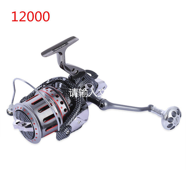 AFL8000-12000 Series Full Metal Body Spinning Reels Big Trolling Reel Surf Reel Fishing Reel 4.7:1 10+1 BB