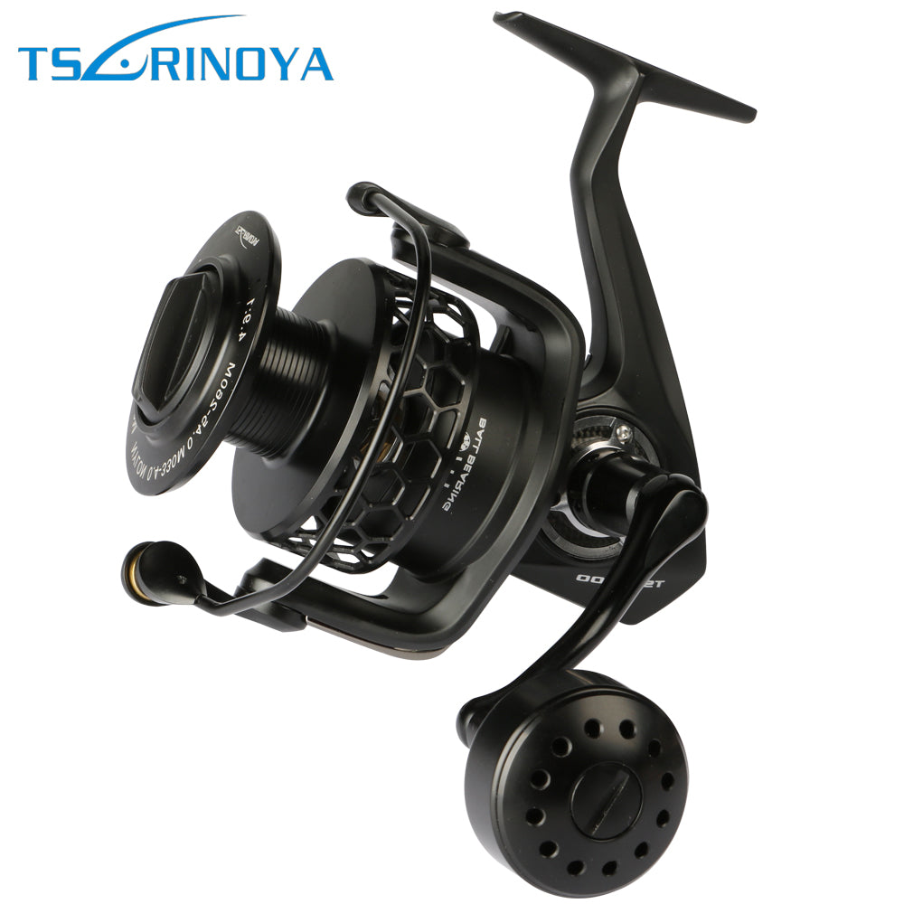 Trulinoya  Full Metal Sea Boat Long Casting Fishing Reel TSP 7000 Spinning Reel 7+1BB 4.9:1 Max Drag 20kg For Jigging & Trolling