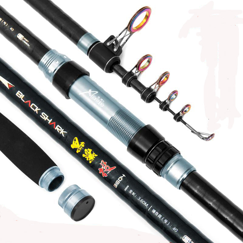 New Long Section Superhard Carbon Long Distance Throwing Casting Rod Sea Telescopic Fishing Rod Fishing Pole