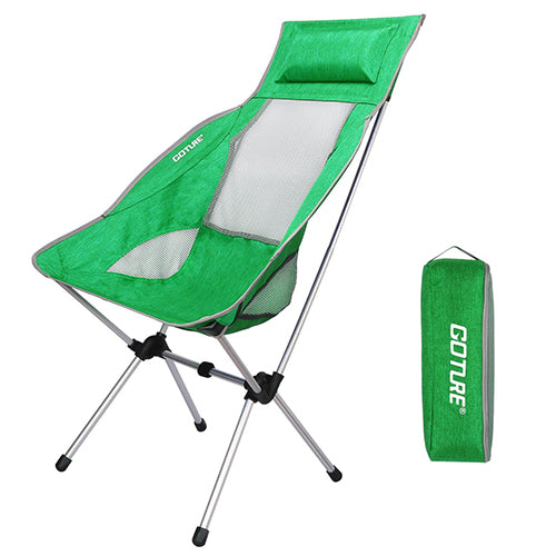 Goture Folding Fishing Chair Max Load 150kg Super Lightweight with Carrying Bag for Fishing Camping Chair Picnic Beach Party