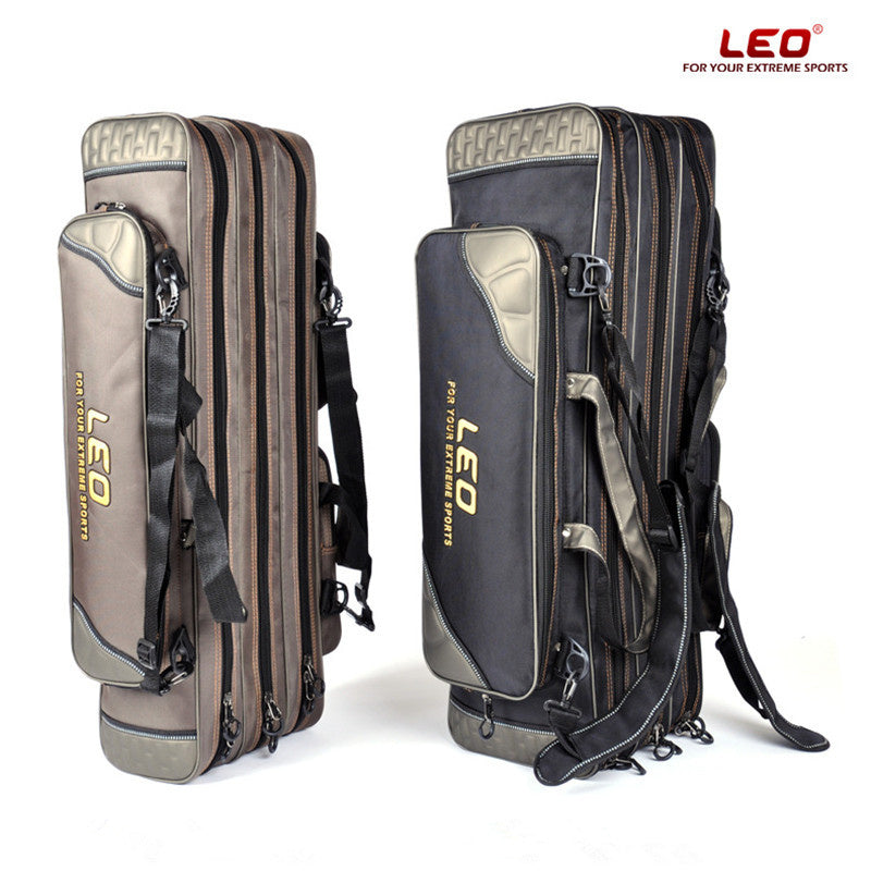 Leo S/L 80cm/90cm Waterproof Portable Fishing Rod Bags Extra Thickness Large Capacity Fishing Bags Fishing Tools Storage Tackle