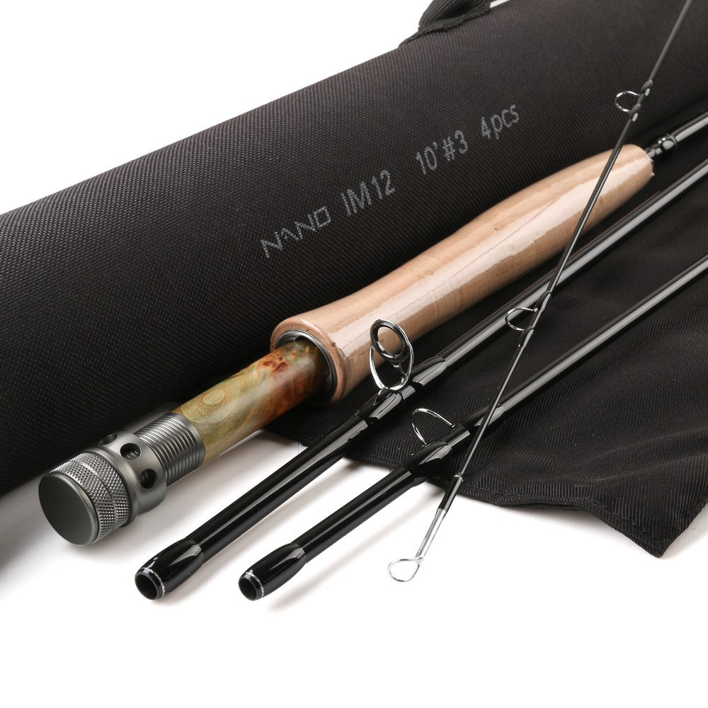 Maximumcatch Nymph Fly Fishing Rod 10FT 3WT Fly Fishing Rod IM12 Carbon Fiber Fly Rod