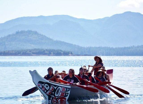 Traditional canoe paddle excursion in Ketchikan, Alaska with Marvin Oliver