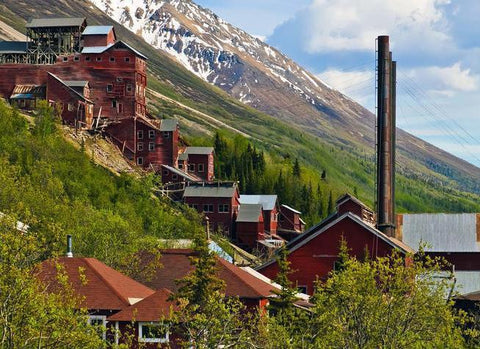 The Kennecott Mines near McCarthy, Alaska in the Wrangell St. Elias National Preserve used to be owned by the JP Morgan family and was one of the largest producing copper mines of its time