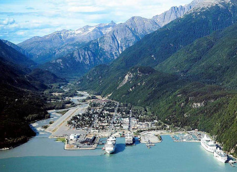 Aerial view of Skagway, Alaska