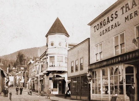 Historical photo of Tongass Trading Co. in Ketchikan, Alaska