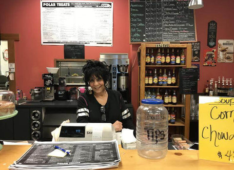 Angelina Ingle is the owner of Polar Treats, a local coffee and sandwich shop in Ketchikan, Alaska