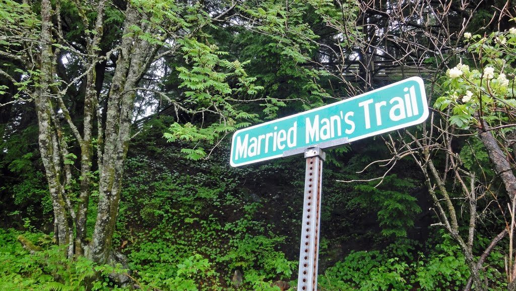 Married Man's Trail on Creek Street in Ketchikan, Alaska