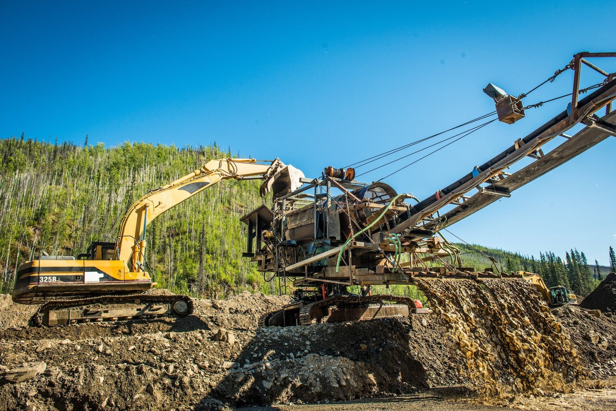 Mining for gold in the Yukon