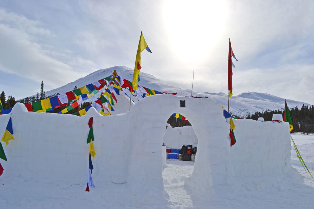 Snow forts at the Buckwheat Ski Classice near Skagway, Alaska