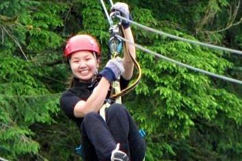 Ziplinging through the trees with Alaska Canopy Adventures in Ketchikan, Alaska