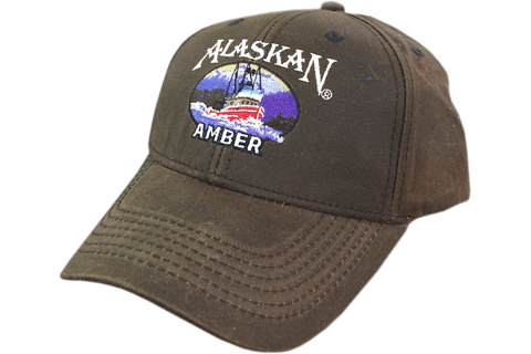 Alaskan Brewing Company Oilskin Ball Cap. An oilskin is a waterproof garment, typically worn by sailors and by others in wet areas
