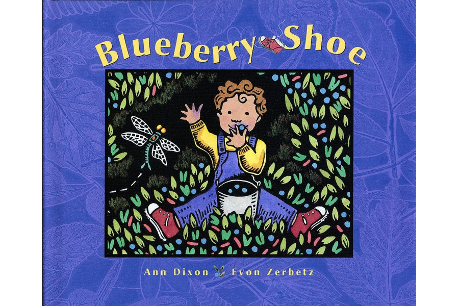 Blueberry Shoe kids book with art by Ketchikan artist Evon Zerbetz
