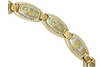 Gold quartz ladies bracelet with diamonds by Orocal