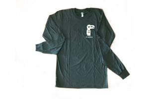Long sleeve totemic t-shirt with Lynch & Kennedy logo in grey