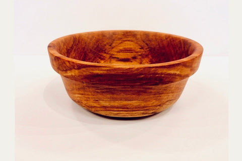Hand Turned Spalted Alder Serving Bowl With Border