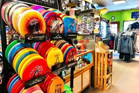 The Mountain Shop has a great Innova disc golf disc selection