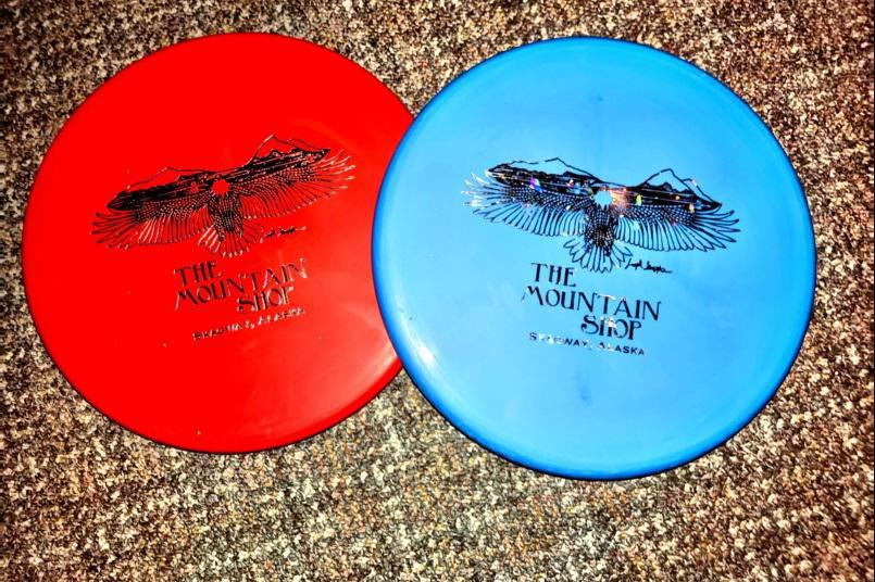The Mountain Shop has a great Westside disc golf disc selection, with custom Mountain Shop logo on the face of each disc