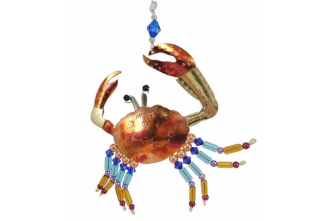 Crab metal Christmas ornament