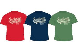 Sockeye Cycle vintage logo men's t-shirt