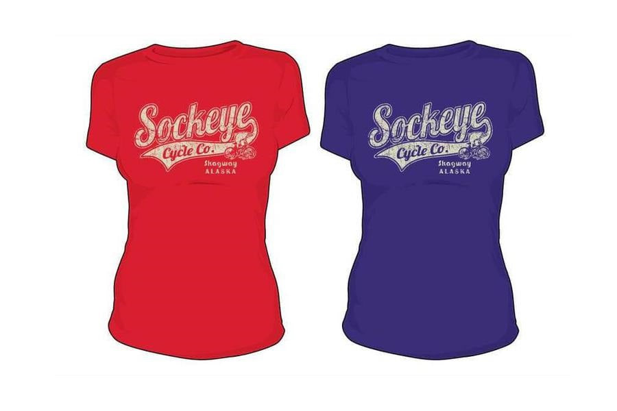 Sockeye Cycle vintage logo women's t-shirt