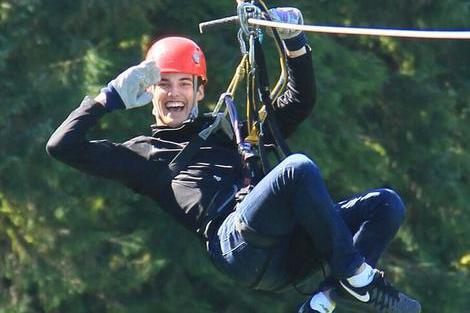 Ziplining in Alaska is exhilerating and fun for all ages