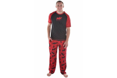 Lazy One Unisex Red Moose Comfort Pants